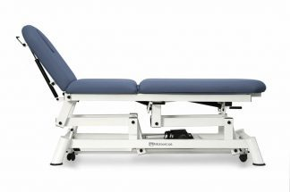 Electric treatment table - 3 sections with wheels - Designed for Osteopathy