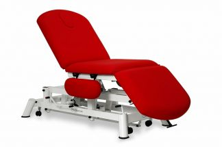 Hydraulic examination chair - 3 sections with flip-up armrests and wheels