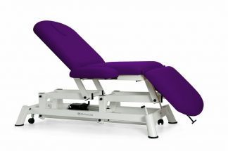 Electric examination couch - 3 sections with wheels and armrests