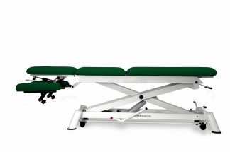 Hydraulic treatment table for osteopati - 3 sections with wheels - Scissor lift