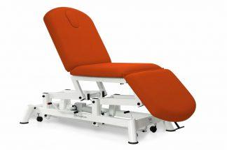 Hydraulic examination chair - 3 sections with wheels - TwinPillar-lift
