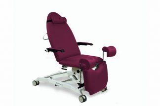 Electrical gynecological examination chair with 3 motors and Trendelenburg - wheels