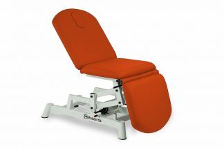 Hydraulic examination chair - 3 sections - 1 pillar lift