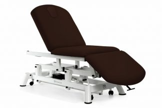 Electric treatment table - 3 sections with wheels - Twin Pillar lift