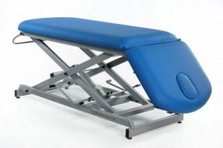 Hydraulic treatment table - 2 sections - Negative adjustment of backrest - Scissor lift