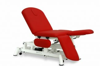 Electric examination couch - 3 sections - Individual legrests - Armrests - Wheels