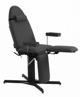 Tattoo chair with fixed height - Adjustable armrests (height / rotation)