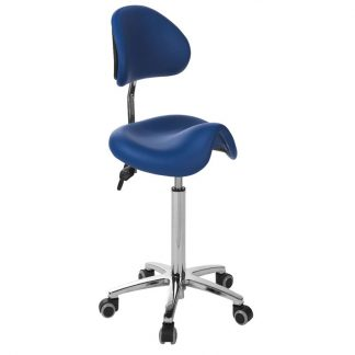 Saddle chair with backrest