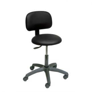 Round chair with backrest and base made out of black