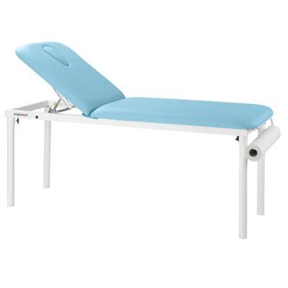 Stationary treatment table - 2 sections - White coated frame