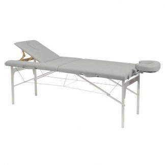 Foldable massage table (Alu)- 2 sections - 182x70 cm - Adjustable height/backrest