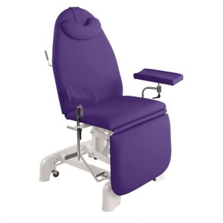 Hydraulic sampling chair - 3 sections - Multifunctional armrests