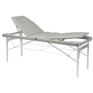 Foldable massage table (Alu) - 2 sections - 182x70cm - Back support - Adjustable