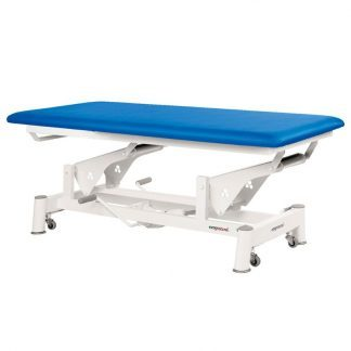 Hydraulic treatment table - Extra wide - 1 section - Wheels