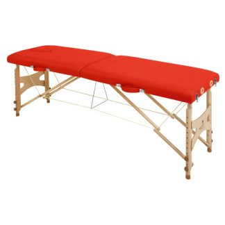 Foldable wooden massage table - 2 sections - 182x50 cm - Adjustable height