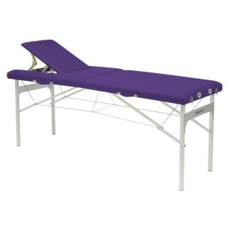 Foldable massage table (Alu) - 2 sections - 182x62 cm - Fixed height