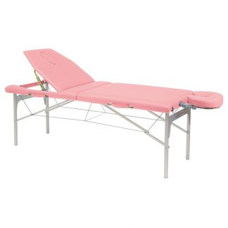 Light aluminium massage table - Adjustable height - headrest