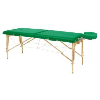 Foldable wooden massage table - 2 sections - 182x70 cm - Adjustable