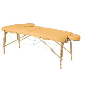 Foldable wooden massage table - 2 sections - 186x70 cm - Adjustable