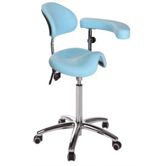 Saddle chair with backrest with multifunctional armrests - Derby