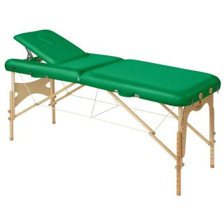 Foldable wooden massage table - 2 sections - 186x70 cm - Adjustable - Back support