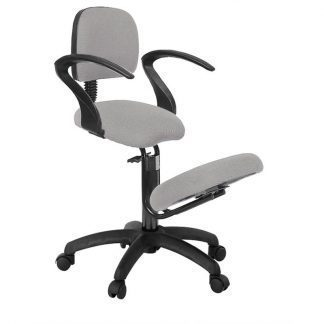 Ergonomical knee chair with back and armrests (non-adjustable armrests)