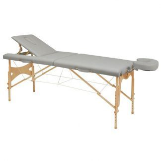 Foldable wooden massage table - 2 sections - 182x70cm - Adjustable backrest/height