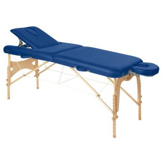Foldable wooden massage table - 2 sections - 186x70 cm - Back-/face support