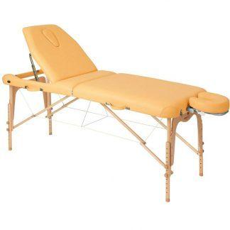 Foldable wooden massage table - 2 sections - 186x70 cm - Large backrest