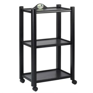 Wooden trolley with 3 shelves - Dark brown finish