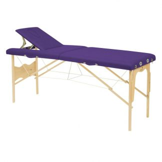Foldable wooden massage table - 2 sections - 182x50 cm - Fixed height