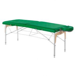 Foldable massage table (Aluminium) - 2 sections - 182x70 cm - Adjustable height