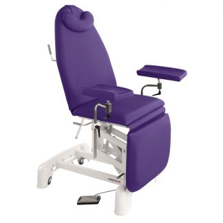 Electrical sampling chair - 3 sections with wheels - Multifunctional armrests