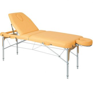 Foldable massage table (Aluminium) - 2 sections - 186x70 cm