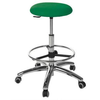 Round chair - Foot maneuvered gas spring