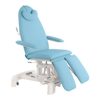 Hydraulic examination chair - 3 sections with armrests - Pillow