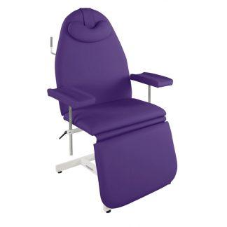 Stationary sampling chair with adjustable armrests