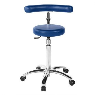 Round chair with multifunctional armrests - Flat sitting surface