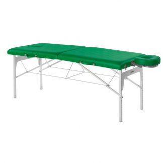 Foldable massage table (Alu) - 2 sections - 182x70cm - Adjustable - Face rest