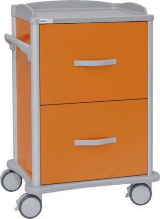 Multifunctional hospital trolley - 2 drawers for journal folders