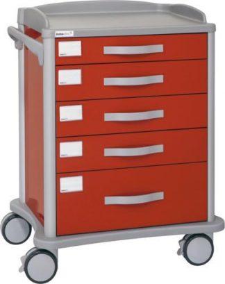 Multifunctional hospital trolley - 4 1 drawers - 80x58x98 cm
