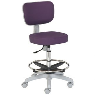 Chair with foot and backrest - PVC base