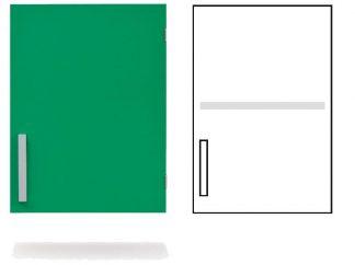 Wall cabinet - ISO-modul - 1 door and 1 adjustable shelf