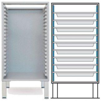 Floor cabinet - ISO-modul - 9 baskets