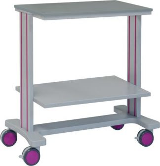 Multifunctional hospital trolley with 2 shelves