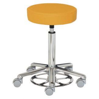 Round chair - Foot maneuvered - Aluminium base