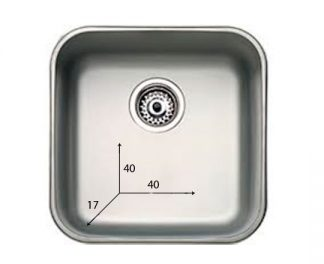 Sink made out of stainless steel - 40x40x17 cm
