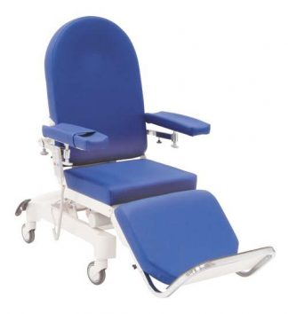 Electrical dialysis chair with wheels - 3 sections