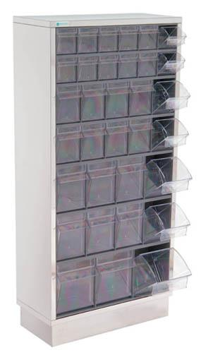 Wall mounted storage cabinet - 65x25x128 cm