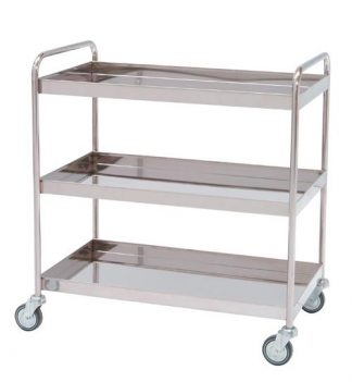 Distribition trolley made out of stainless steel - 3 shelves - 95x50x95 cm